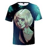 CYANDJ-Life is Strange-Camiseta Unisex De Manga Corta Impresa En 3D, Camiseta Polo Casual De Verano para NiñOs, Camiseta De Playa De Secado RáPido con Estampado De Dibujos Animados-S