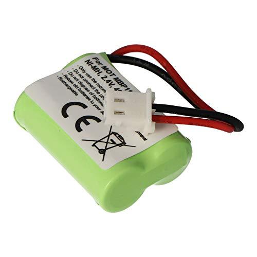 Batería para Motorola MBP11, NiMH, 2,4 V, 400 mAh, 1,0 WH.