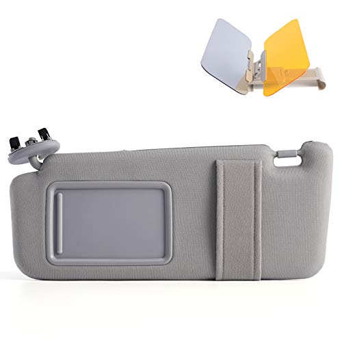 Orion Motor Tech Driver Side Gray Sun Visor Fit for Toyota Camry 2007 2008 2009 2010 2011 Without Sunroof