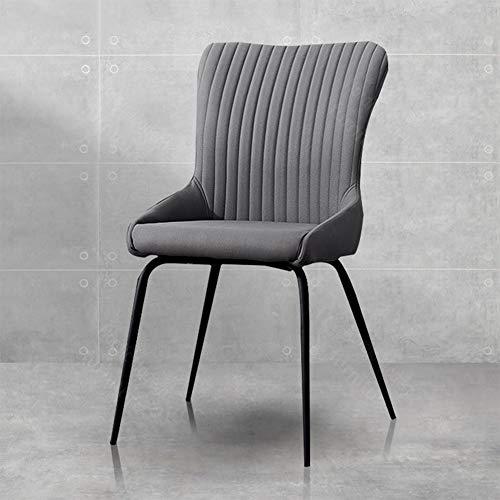 DyAn Sedie da Pranzo con Schienale, Telaio in Metallo Sedia da Cucina Alta Schiena, Sedia da Cucina Stile Moderno 86 Cm - Dxx(Color:Style-Gray)