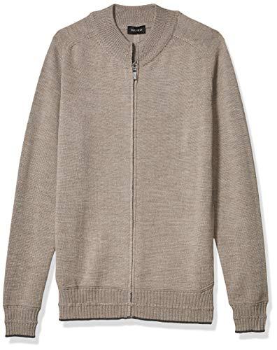Hanro Herren Knits Zip Cardigan Pyjama-Oberteil (Top), Taupe, XX-Large