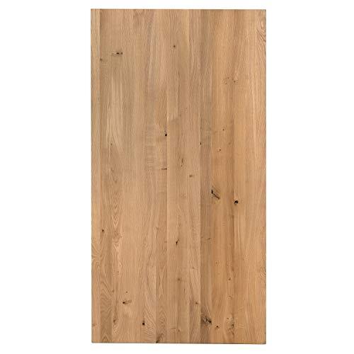 boho office® Massivholz, Tischplatte Schreibtischplatte 160 x 80 x 2.5 cm in Eiche Massiv mit durchgehenden Lamellen - 2
