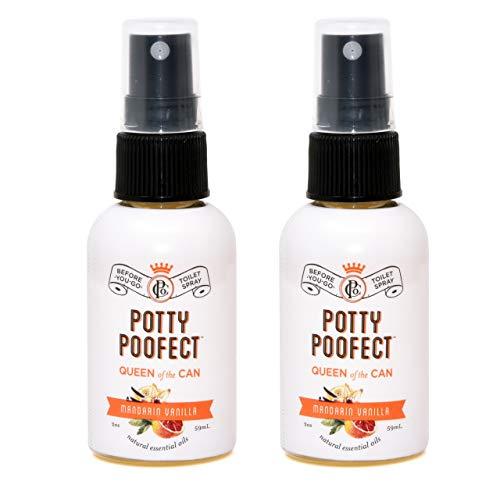 PooPourri Mandarin Vanilla Potty Poofect 2 Ounce Bottle Before You Go Toilet Spray 2 Pack