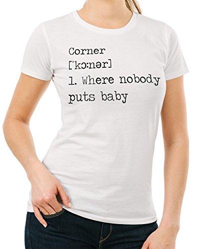 IMAGE T-Shirt Nessuno Mette Baby in Un Angolo Dizionario Dirty Dancing-Film - Donna-M-Bianca