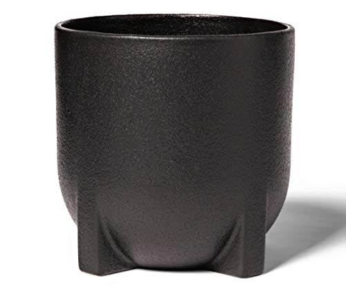 """Project 62 8"""" Footed, Ceramic Planter, Black Very Sturdy and Larger Than it Seems in Photo."""