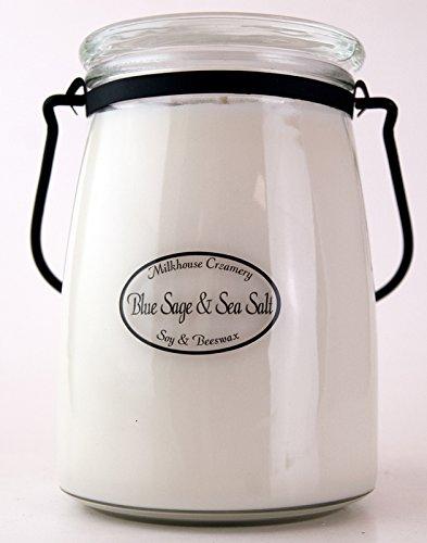 Milkhouse Candle Creamery Blue Sage & Sea Salt 22 oz. Butter Jar Candle