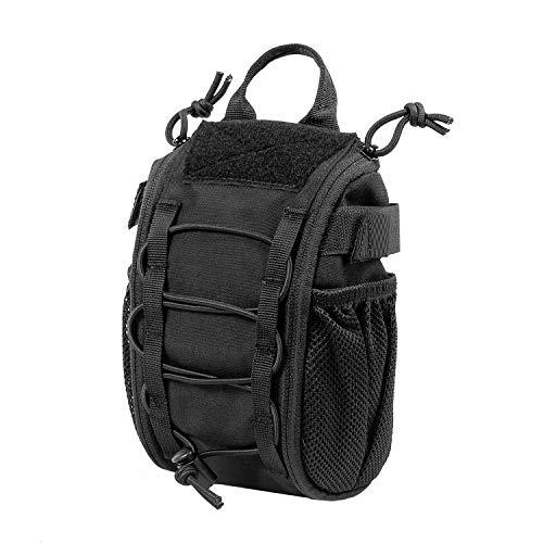 OneTigris Molle - Juego de primeros auxilios tácticos militares y tácticos rápidos de EMT, para viajes, camping, senderismo, ciclismo, caza, aventura (negro01)