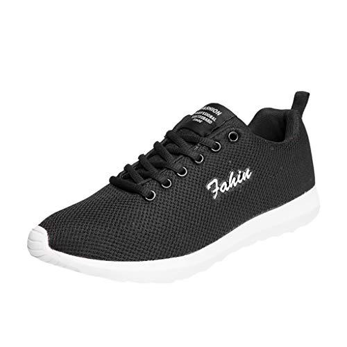 AIni Herren Schuhe 2019 Neuer Heißer Beiläufiges Mode Sale Paar Mode Lässig Laufschuhe Atmungsaktiv Mesh Schuhe Schnürschuhe Freizeitschuhe Partyschuhe (38,Weiß)