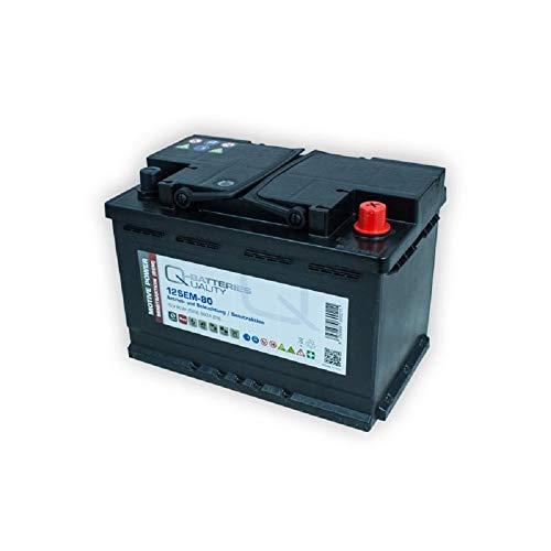 Batería de alimentación de 12 V 80 Ah, accionamiento solar, para autocaravana, barco, compatible con FF 12 060, 956 01, 956 02, LFD70