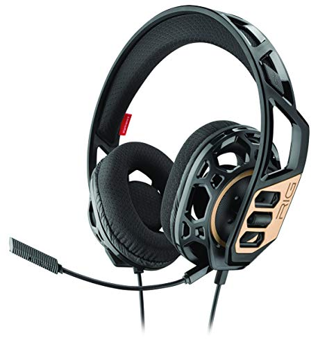 Plantronics Rig 300, Gaming-Kopfhörer mit Mikrofon, PC, schwarz