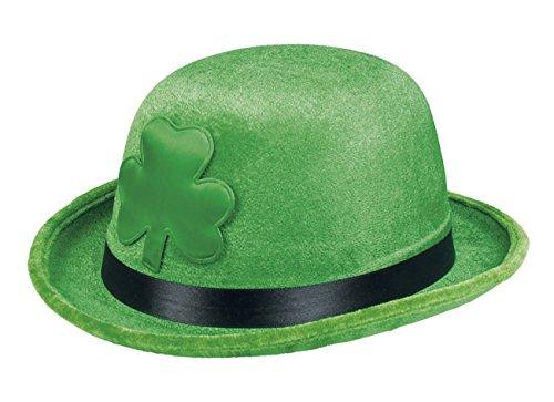 Boland- Cappello Bombetta Trifoglio Irish Shamrock St. Patrick per Adulti, Verde, Taglia Unica, 44911