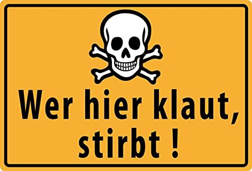 Cartel de metal de 20 x 30 cm, con texto en alemán