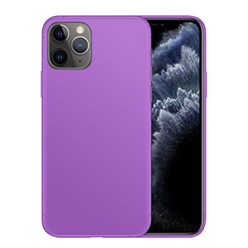 TBOC Funda de Gel TPU Morada para Apple iPhone 11 Pro MAX [6.5 Pulgadas] Carcasa de Silicona Ultrafina y Flexible para Teléfono Móvil [No es Compatible con iPhone 11 - iPhone 11 Pro]