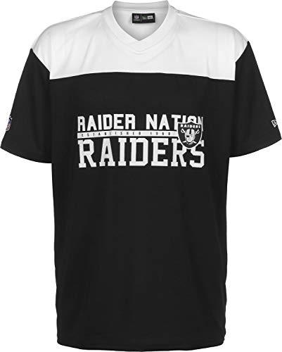 New Era NFL Stacked Wordmark OS Oakland Raiders Camiseta Black/Optic White
