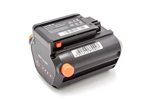 vhbw Batería Adecuada para cortacéspedes de Gardena PowerMax Li-18/32 & soplador Allround AccuJet Li-18 como BLi-18 (9840-20, 9839-20)