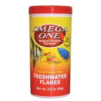 Omega One Freshwater Flakes, 2.2 oz. by Omega One (English Manual)