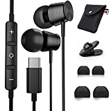 Gsangoo in-Ear USB C Headphones with Microphone for Galaxy S20 FE Earbuds Stereo Sound Noise Isolation Wired Type C Earphones for OnePlus 8T 7T Pro Samsung Note 20 Ultra S20 Plus Google Pixel 5 4 XL