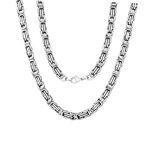 Herren-Halskette, 8 mm breit, Edelstahl, Königskette