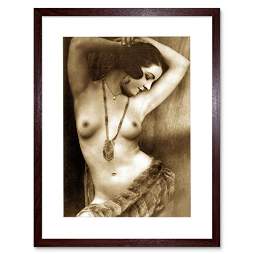 Wee Blue Coo LTD Victorian Erotic Vintage Sepia Nude Risque Erotica Art Framed Art Print Picture & Mount F12X1586