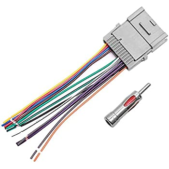 Amazon.com: Car Stereo Radio Wiring Harness Antenna Adapter for Buick Chevy  GMC Pontiac: Car Electronics