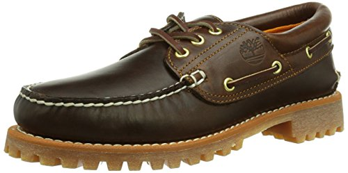 Timberland Men's Earthkeepers 3-Eye Classic Cloth Lined Boat Shoe (Medium Brown/Full Grain, 10.5 D(M) US)