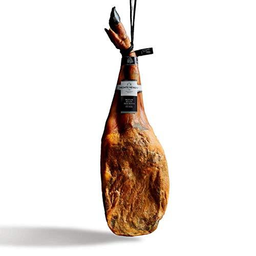 Jamón (Paleta) de Bellota 100% Ibérico Pata Negra Monte Nevado | Natural (Sin Gluten, Sin Alérgenos, Sin OGM) | Peso Mín. 4,5kg | Curación Media 24 Meses | Alimentación a base de Bellotas y Hierba