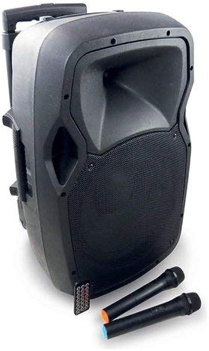 Diffusore amplificato, nero + 2 microfoni gelato inclusi - karma bm 1010