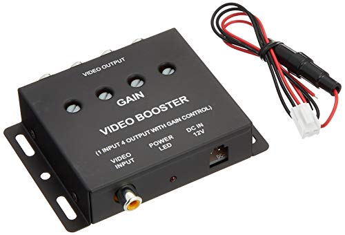 新型ビデオブースター4ポート(分配器)ヘッドレストモニター/サンバイザーモニター/フリップダウンモニター/...