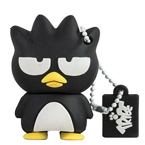 Tribe Hello Kitty Bradtz Maru USB Stick 8GB Speicherstick 2.0 High Speed Pendrive Memory Stick Flash Drive, Lustige Geschenke 3D Figur, USB Gadget aus Hart-PVC mit Schlüsselanhänger – Schwarz