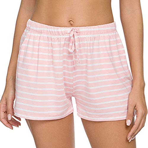 Check Out This Lounge Shorts for Women - Drawstring Striped Shorts at Home Casual Pajama Shorts Stre...
