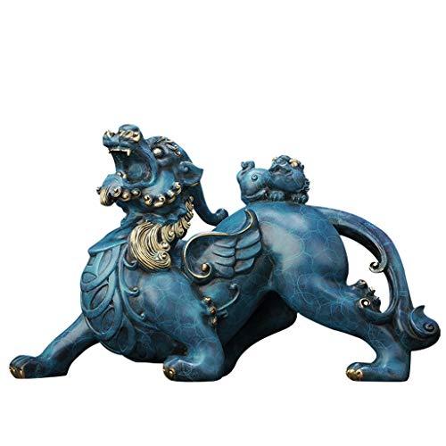 liushop Estatua de Buda Feng Shui Bronce Pi Yao/Pi Xiu Riqueza Porsperity Figura, atraer abundancia y Buena Suerte, Mejor decoración for hogar u Oficina Decoración de meditación (Size : M)
