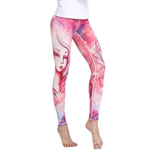 NIGHTMARE Pantalones de Yoga elásticos para Mujer, Control de Barriga, Mallas de Entrenamiento para Correr para Mujer, Mallas Sexis de Gimnasio para Mujer M