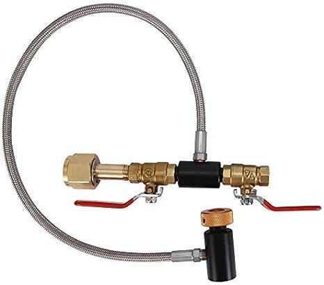 91,4 cm mit Messger/ät G1//2 AKDSteel G1//2 CO2 Zylinder Nachf/ülladapter Flaschenanschluss CO2 Soda Maker Zubeh/ör mit Schlauch zum Bef/üllen von Sodastream