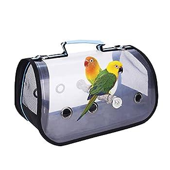 AIHOME Sac de voyage pour animal domestique, cage de transport pour perroquet et petits animaux Transparent Respirant
