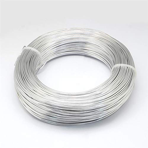LINL 0,6/0,8/1 / 1,2/1,5/2 / 2,5/3 / 3,5/4/5 mm Aluminiumdraht Schmuck für Schmucksachen, die DIY Armband Halskette,Silber,4mm 16m