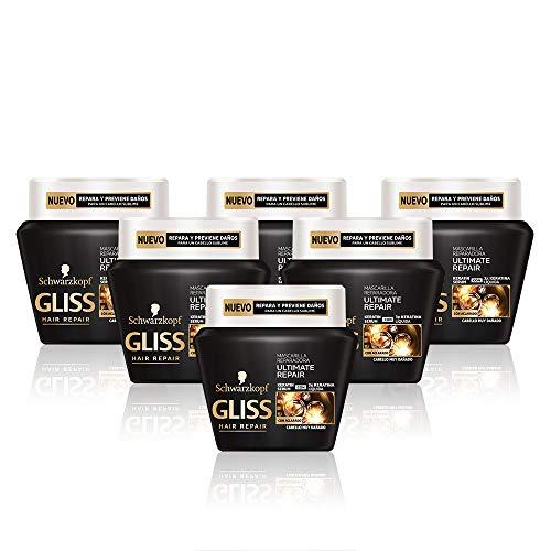 Gliss Mascarilla Ultimate Repair - Paquete de 6 x 300 ml - Total: 1800 ml
