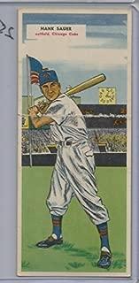 1955 Topps Double Headers Baseball Hank Sauer-Camilo Pascual Card #'s 103-104 Vg-Ex (CSC)