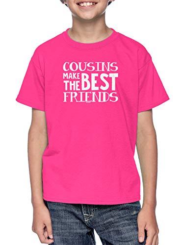 Cousins Make The Best Friends - Matching Youth T-Shirt (Pink, Medium)