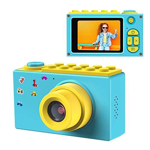 QCHEA Niños cámara Digital, cámara de 8MP cámara Digital HD Mini 2 Pulgadas de Pantalla de Niños con Tarjeta Micro SD for la Edad 3-14 Niñas Niños Regalos Fiesta de cumpleaños de Navidad