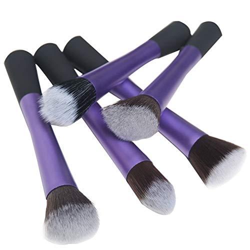 Ensemble de brosse de maquillage, 5 long tube en aluminium petite taille beauté maquillage outil maquillage ensemble brosse beauté maquillage brosse,purple