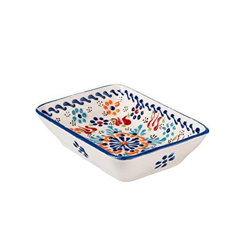 ottoman Seifenschale Dogan Keramik handbemalt handgefertige Seifenschale