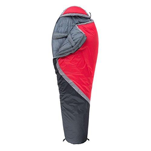Xin.S Momie Sacs De Couchage Facile à Transporter Sports De Plein Air Camping Randonnée Sacs De Couchage Léger Et Confortable. Imperméable (bleu Et Rouge),Red-(190+30)*83cm