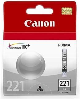 2 Pack Canon CLI-221GY; 2950B001 (CLI221GR) Gray OEM Genuine Inkjet/Ink Cartridge