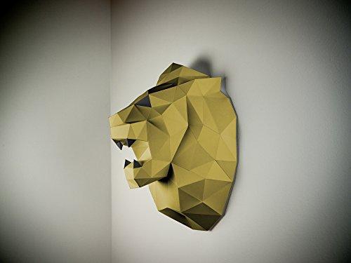 Papertrophy 3D Löwe Gold schwarz