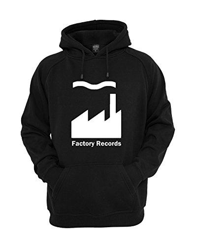 EMIS Print Sweat à capuche imprimé Factory Records - Noir - Large