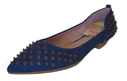 Diesel Porcupine G00905 (30) Damen Leder Ballerina, blau, EU 39