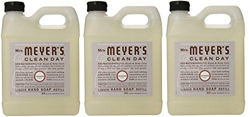 Mrs. Meyers Liquid Hand Soap Refill iTXEGT, 33 Oz, 3Pack (Lavender)