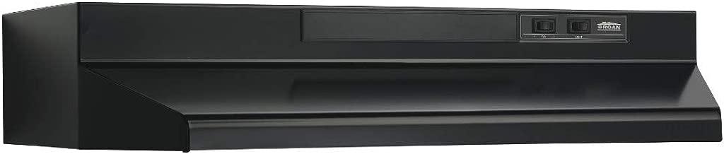 Broan-Nutone  F403623  Convertible Range Hood Insert with Light, Exhaust Fan for Under Cabinet, Black, 6.5 Sones, 160 CFM, 36