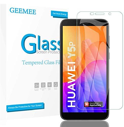 GEEMEE für Huawei Y5P 2020/Huawei Honor 9S/Huawei Y5 2018 Panzerglas Schutzfolie, 2 Stück 9H Filmhärte Gehärtetem Schutzglas Hohe Empfindlichkeit Panzerglas Bildschirmschutzfolie (Transparent)