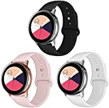 KZIOACSH 3PCS Replacement Wristband Wrist Strap Band Compatible with Samsung Galaxy Watch Active